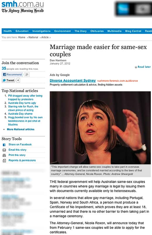 Marriage made easier for all LGBTI couples including intersex Australians